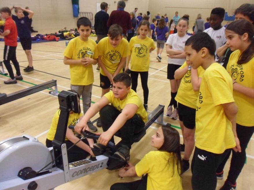 John Clifford is the BROXTOWE CHAMPION SCHOOL for indoor rowing