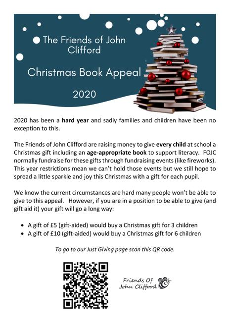 Christmas book appeal campaign poster