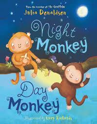 Thursday 15th book is 'Night monkey, day monkey'