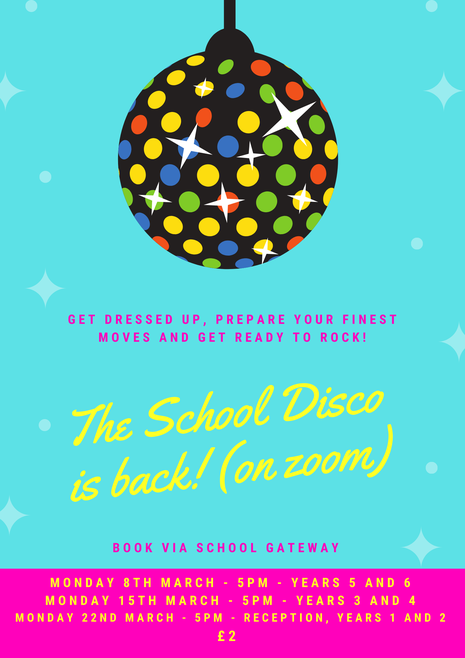 Virtual School Disco poster