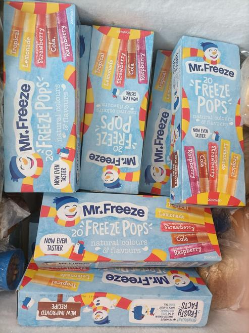 Look at this freezer full of lovely, cold ice pops!  FOJC are providing ice pops for all t