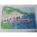 Cold Field Sketch of an Italian coastline