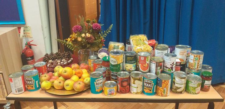 Harvest Table for the Emergency Oxford Food Bank.
