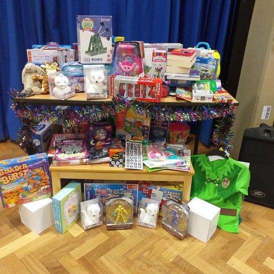 Our school Council organised a collection of new toys for children less fortunate.