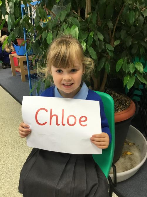 Chloe is always showing us that she can follow our 'Take Care' school rules.