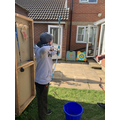 Kyan has been keeping up his archery!