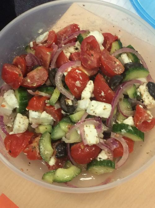 Jamie's Greek salad - umm, good enough to eat.