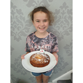 Evie made a delicious looking cake!