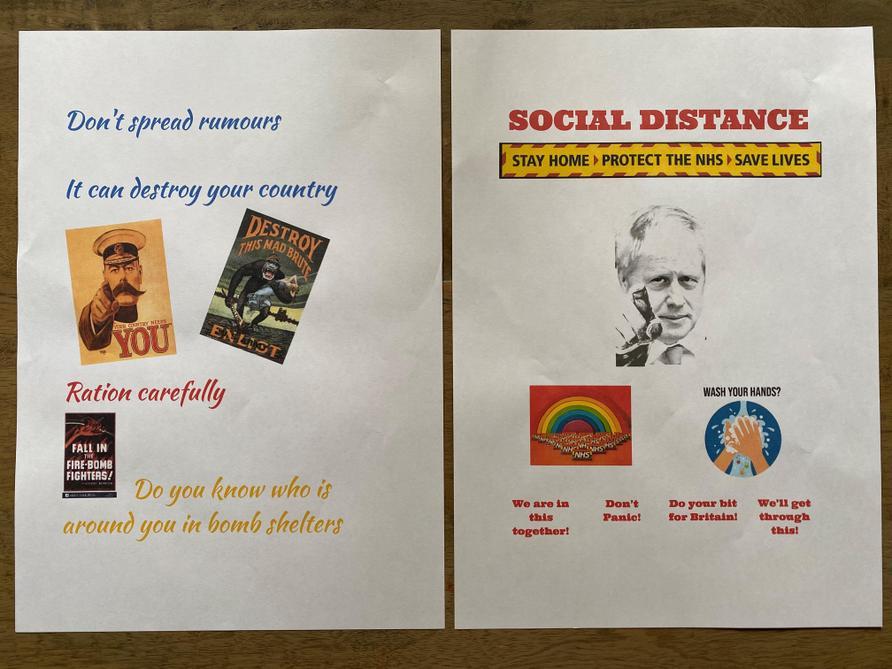 Propaganda poster by Max