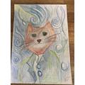 Alfie's Van Gogh inspired artwork