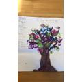 Jess created a beautiful positivity tree