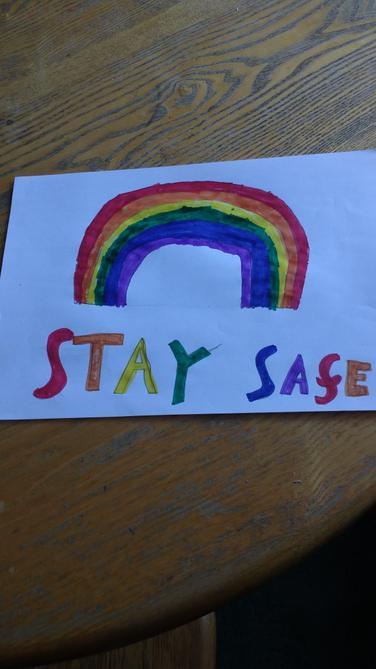Stay safe poster by Luke