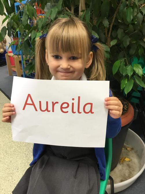 Aurelia has been asking for help and trying hard to speak English!