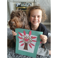 Evie's Positivity Tree and adorable dog Fudge!