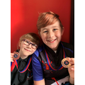 Kyan won gold in a garden archery competition!