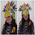 Leia's creative and colourful Maya headdress!