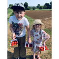 They've even been strawberry picking!