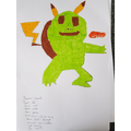 Ethan has created a brand new Pokemon!