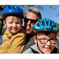 Enjoying their bike ride!