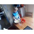 Making banana bread! Yummy
