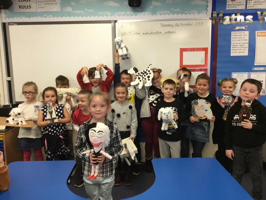 The Kestrels showing off their fantastic homework!