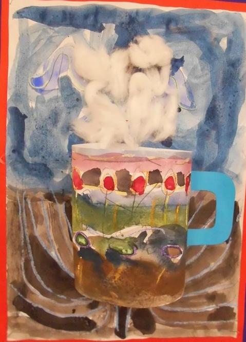 3D mugs taken from our class reading book The Great Chocoplot by Chris Callaghan