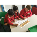 We explored a section of the Bayeux Tapestry.
