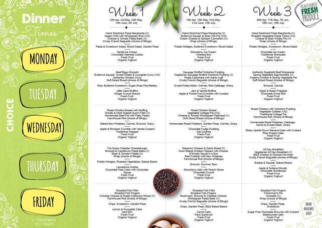 New menu for use after Easter Holiday - for better view click on file above