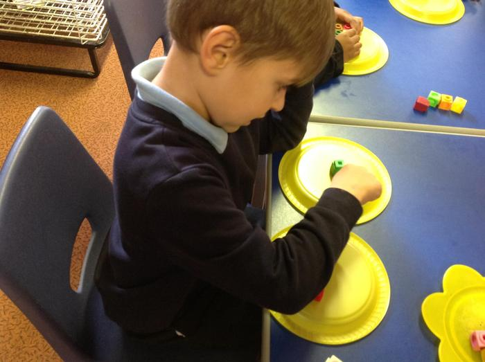 Counting two groups to find the total.