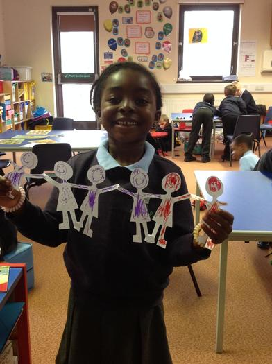 We decorated our paper dolls.