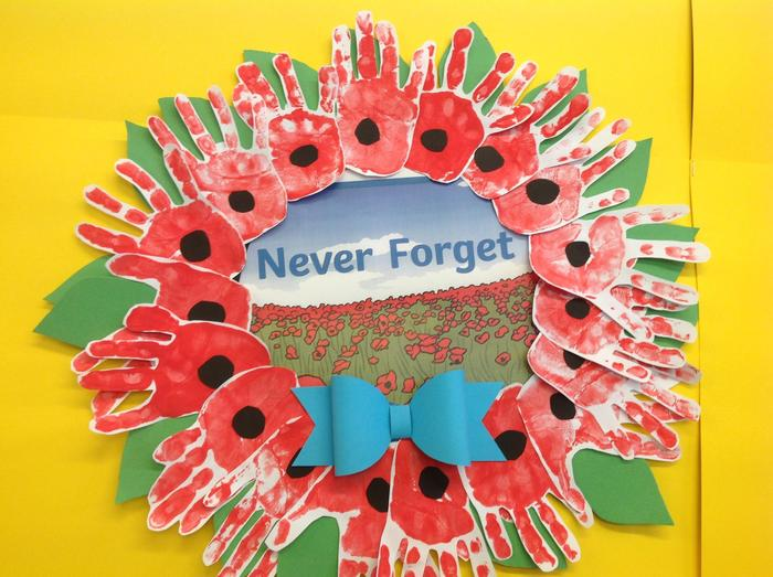 Reception poppy work
