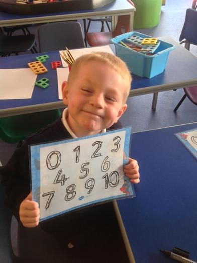 Smiley number writing!