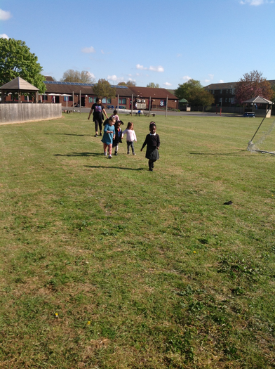 We ran and walked100m as part of our challenge