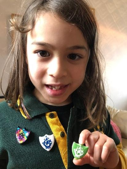 Troy received TWO Blue Peter badges.