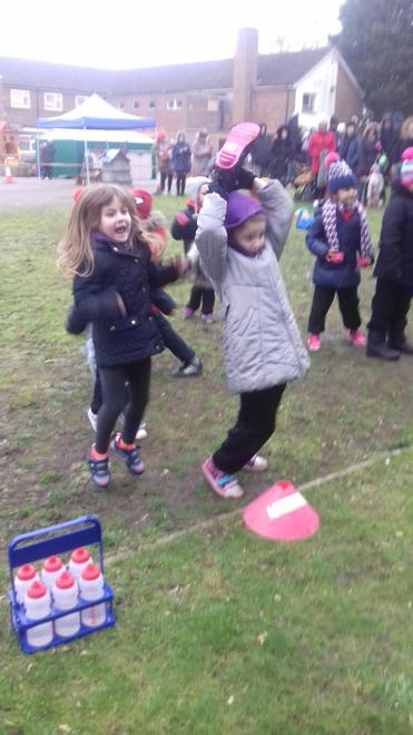 Welly Throwing! Mrs Allen's favourite...