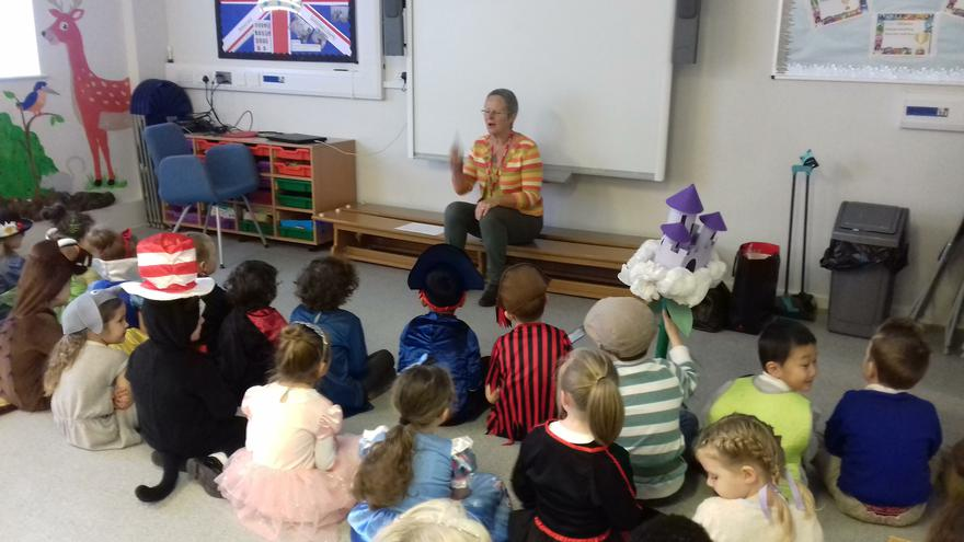 We had a visit from Roisin Murray,  a storyteller