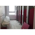 The toilet block.