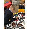 Improving Fine Motor Skills by picking up conkers