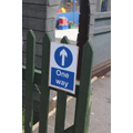 One way system clearly marked