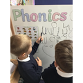 Writing our new phonics sound