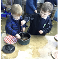 Mud Kitchen - leaf soup!