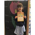 Headteachers Certificate for Millie!