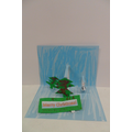A finished pop-up Christmas card!
