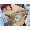 We used a filtering method to separate sand and water.