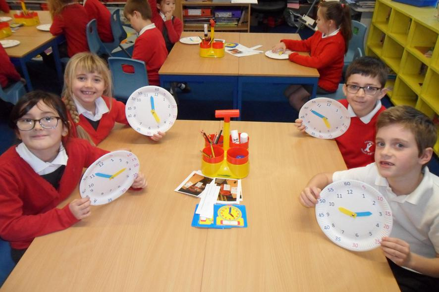 We made our own clocks to help us tell the time