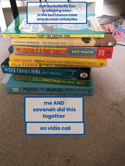 Book Spine Poetry, Betty and Savanah, Class 5.jpeg