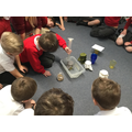 We tested each material by pouring 100ml of water onto them.