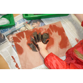 We have made some hand stencil art.