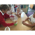 We sieved flour and rice to separate the two.