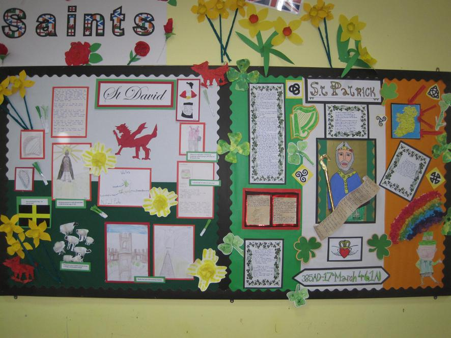The Hall Display - Our Patron Saints